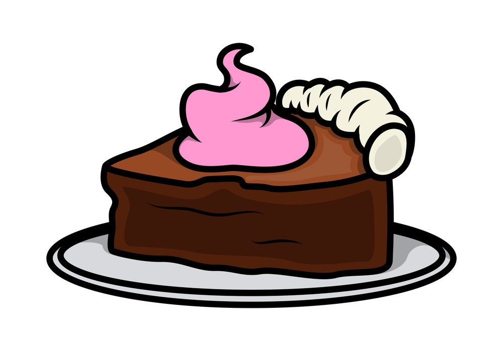 Retro Cake Piece Vector