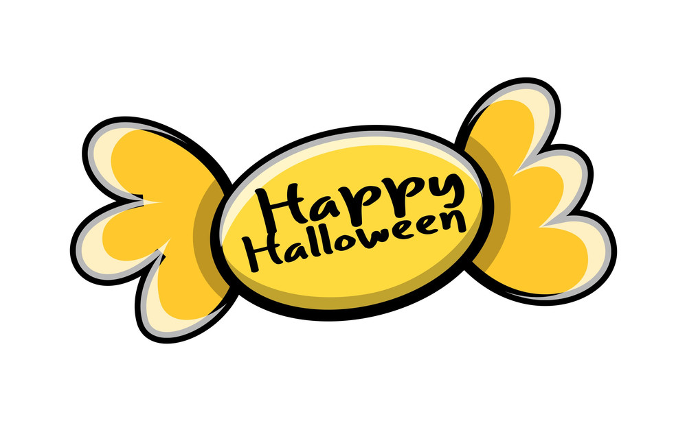 Retro Candy Halloween Banner