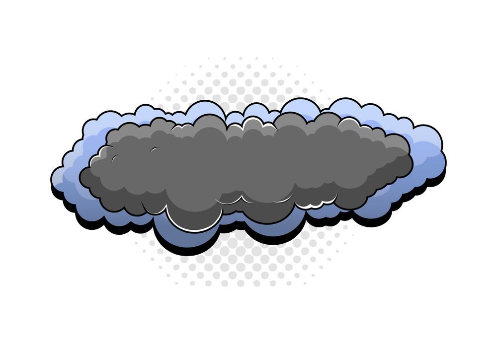 Retro Cartoon Clouds Banner