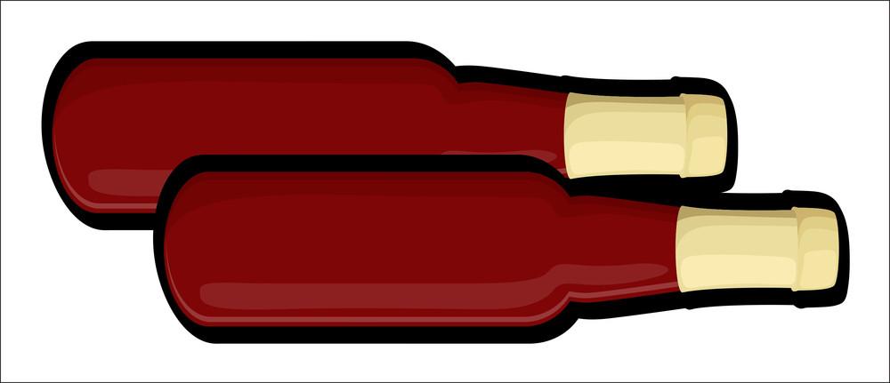 Retro Champaign Bottles