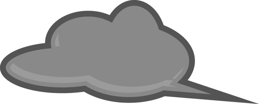 Retro Chat Bubble - Vector