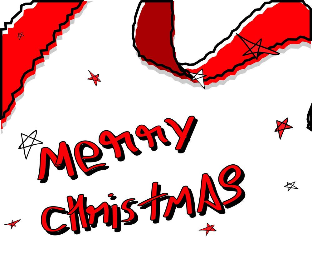 Retro Christmas Greeting Template Design Royalty Free Stock Image