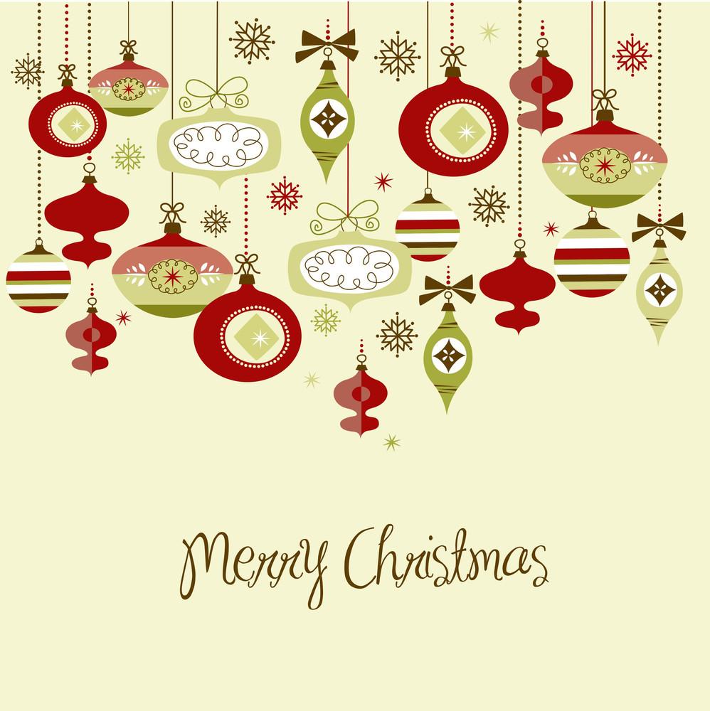 Retro Christmas Ornamets.