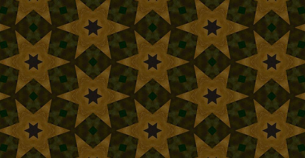 Retro Christmas Stars Pattern