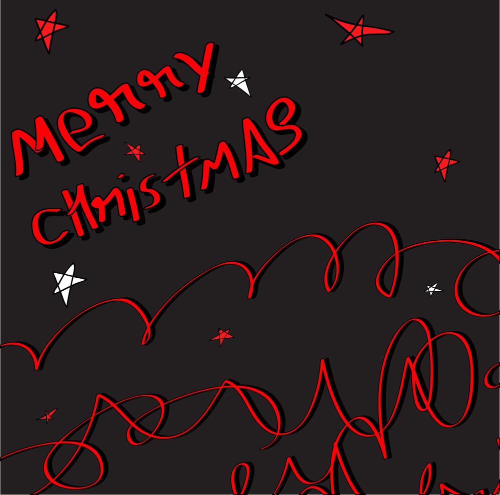 Retro Christmas Template Design