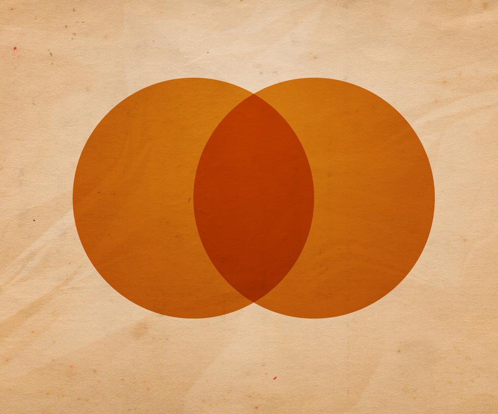 Retro Circle Illustration Background