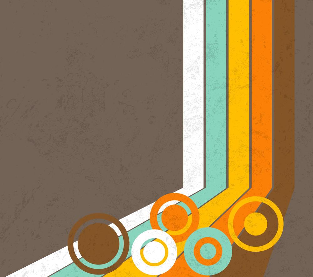 Retro Circles Striped Background