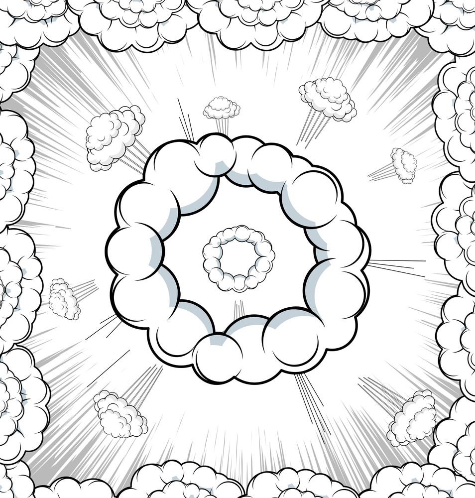 Retro Cloud Burst Background
