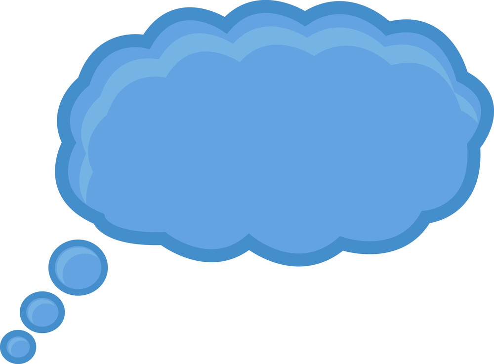 Retro Cloud Speech Bubble Royalty-Free Stock Image