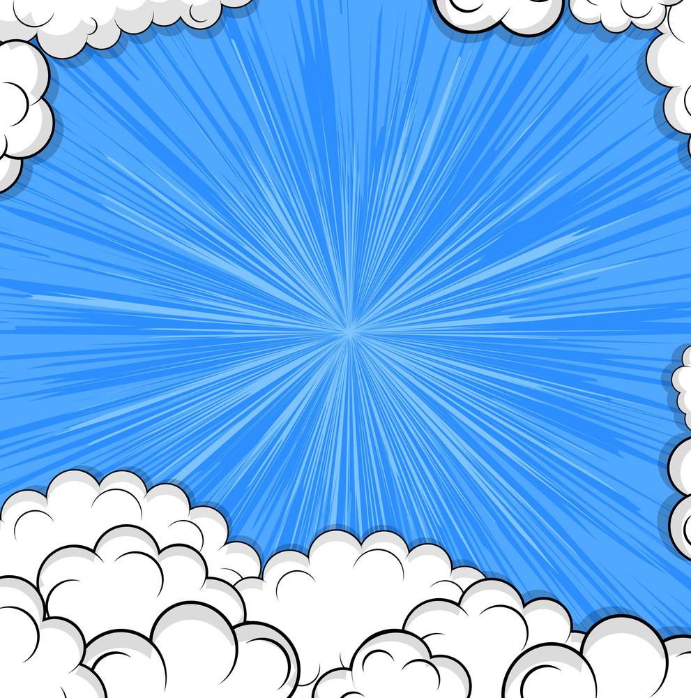 Retro Clouds Background Design