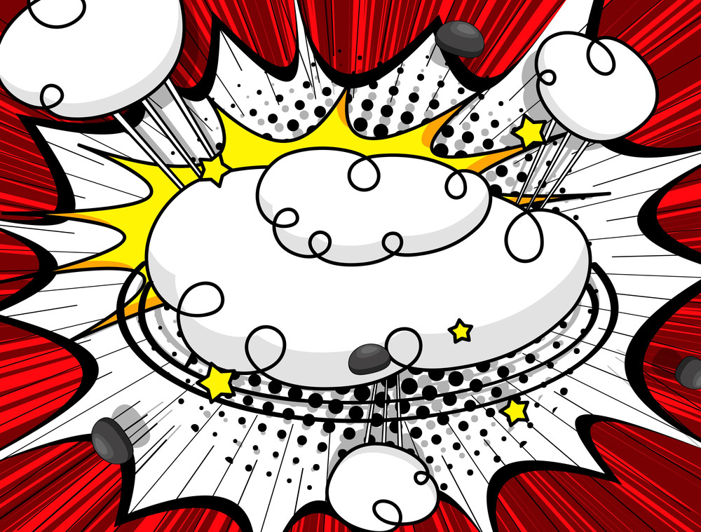 Retro Clouds Grunge Background
