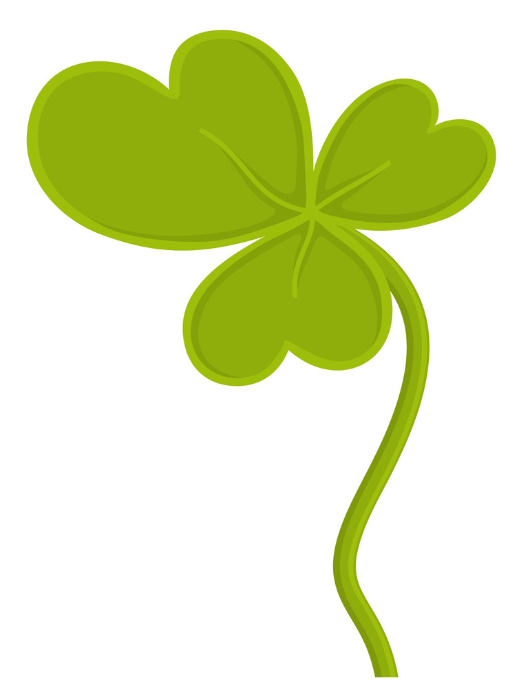 Retro Clover Leaf Vector Illustration