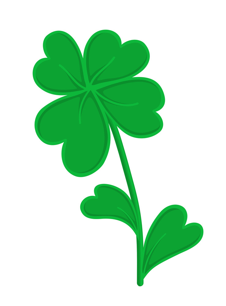 Retro Clover Leaf Vector