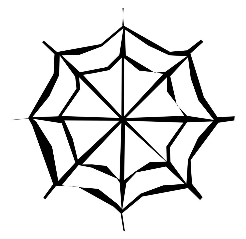 Retro Cobweb Design