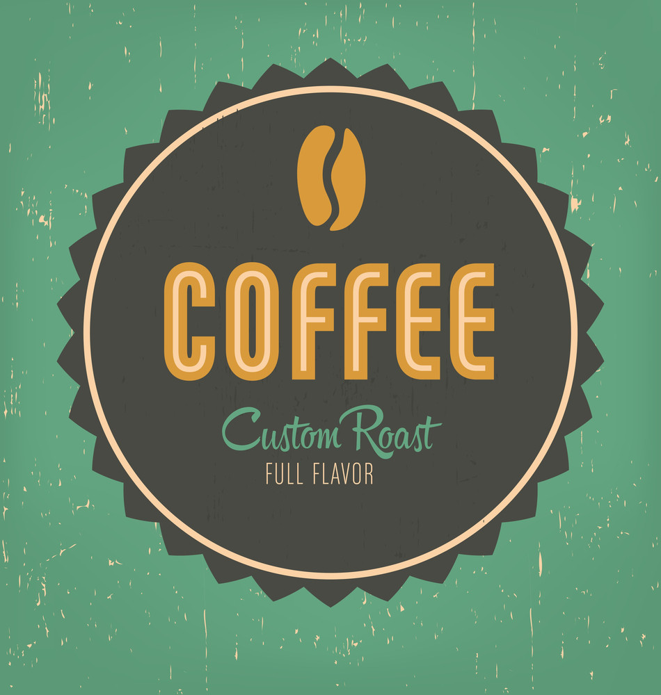 Retro Coffee Label Design