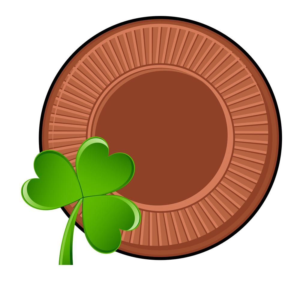 Retro Coin Clover Leaf