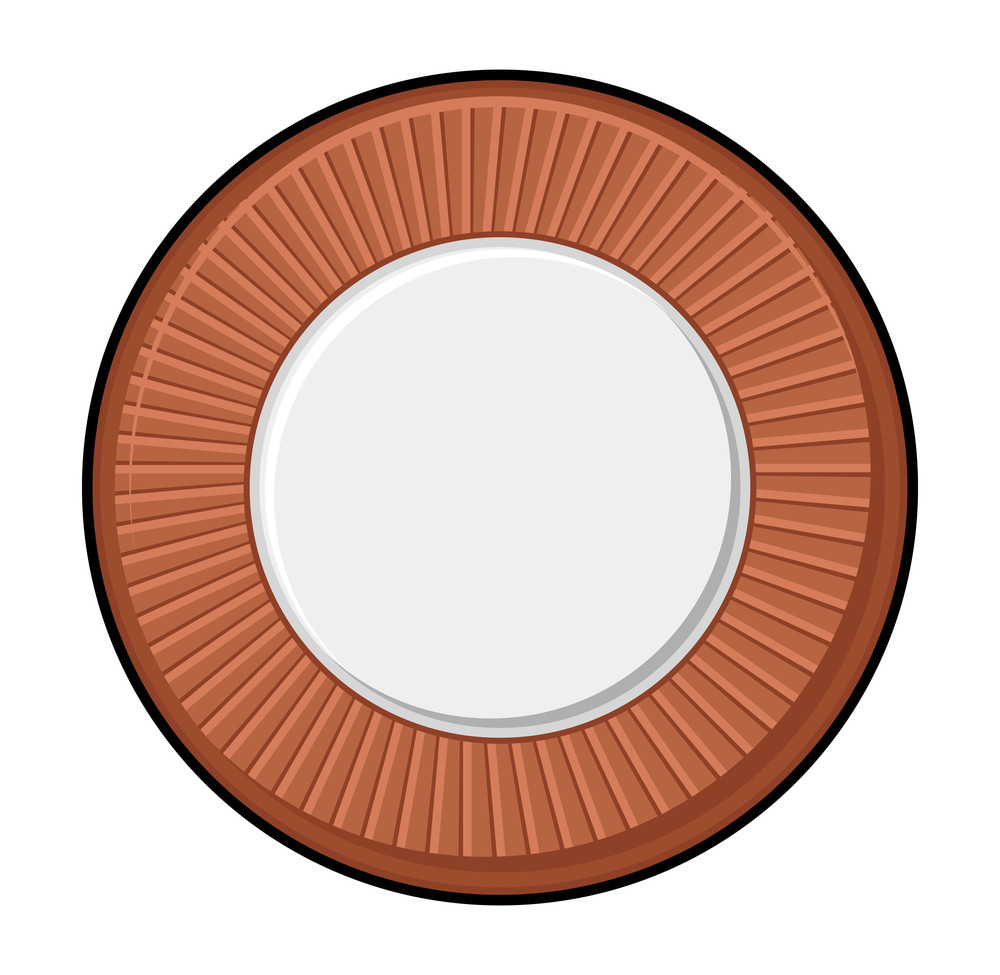 Retro Coin Vector Shape