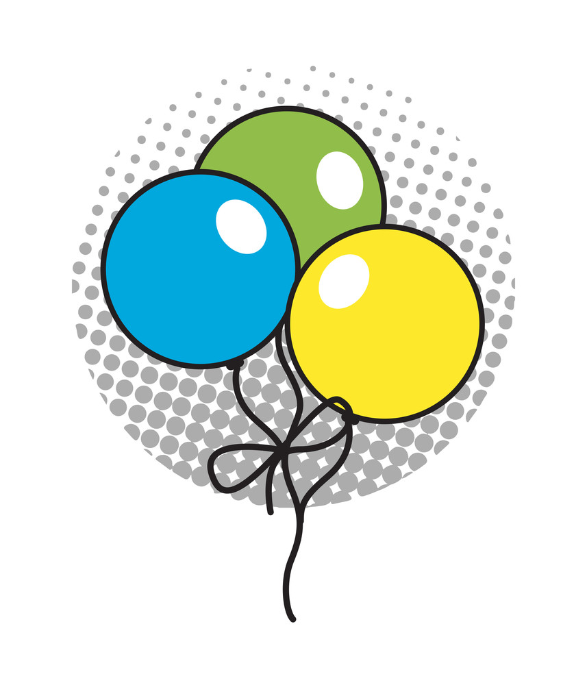 Retro Colored Balloons
