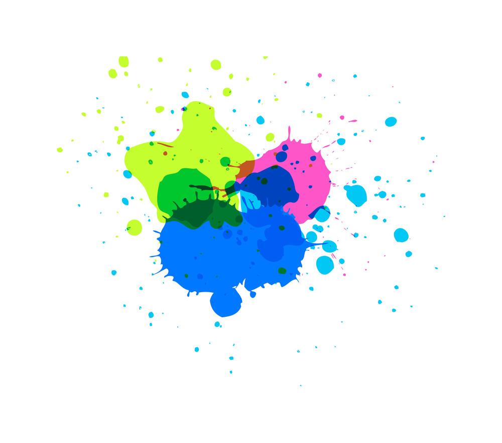 Retro Colored Drops Vector