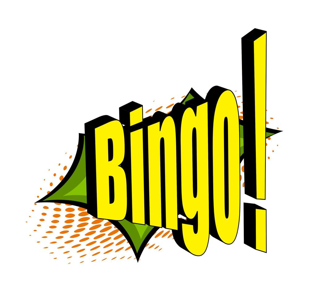 Retro Comic Bingo Text Banner