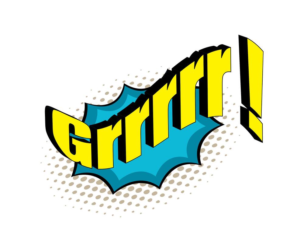 Retro Comic Graphic Text Vector
