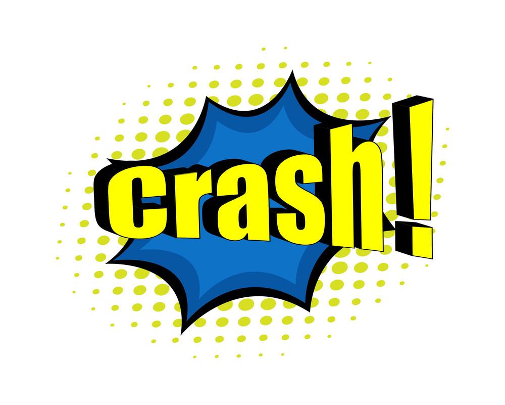 Retro Crash Halftone Background