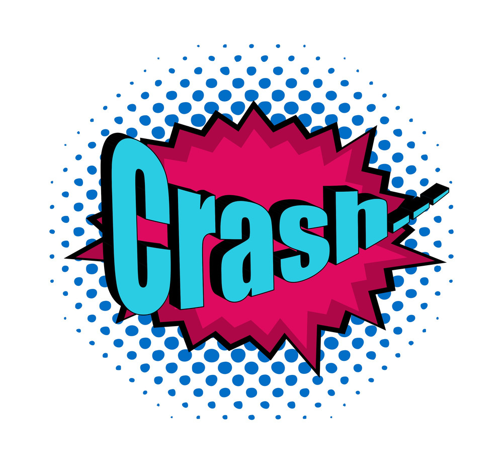 Retro Crash Text Banner