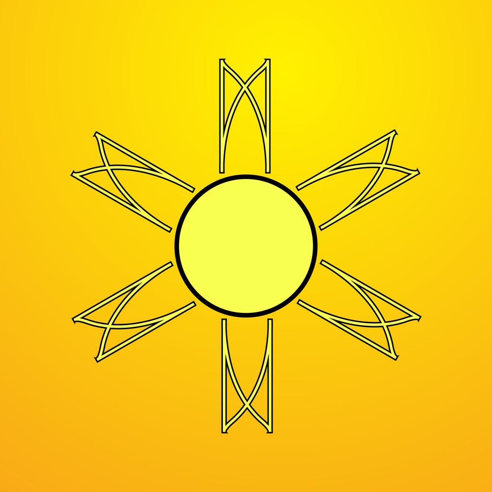 Retro Creative Sun Design