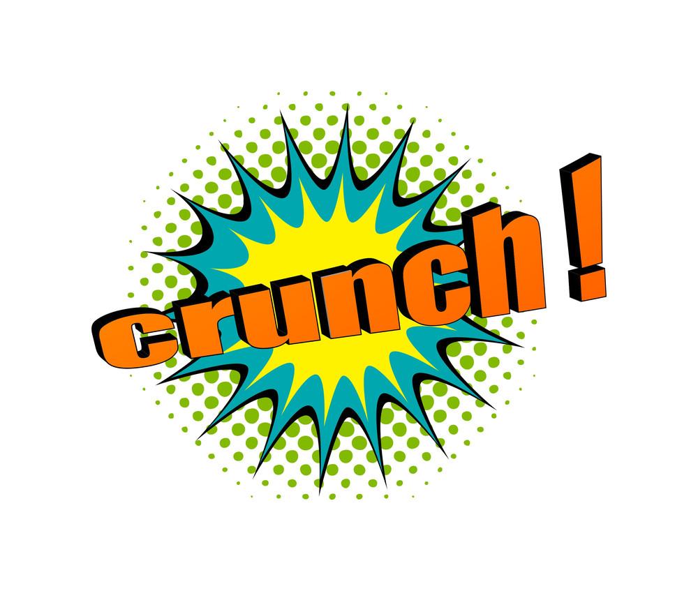Retro Crunch Text Banner Design