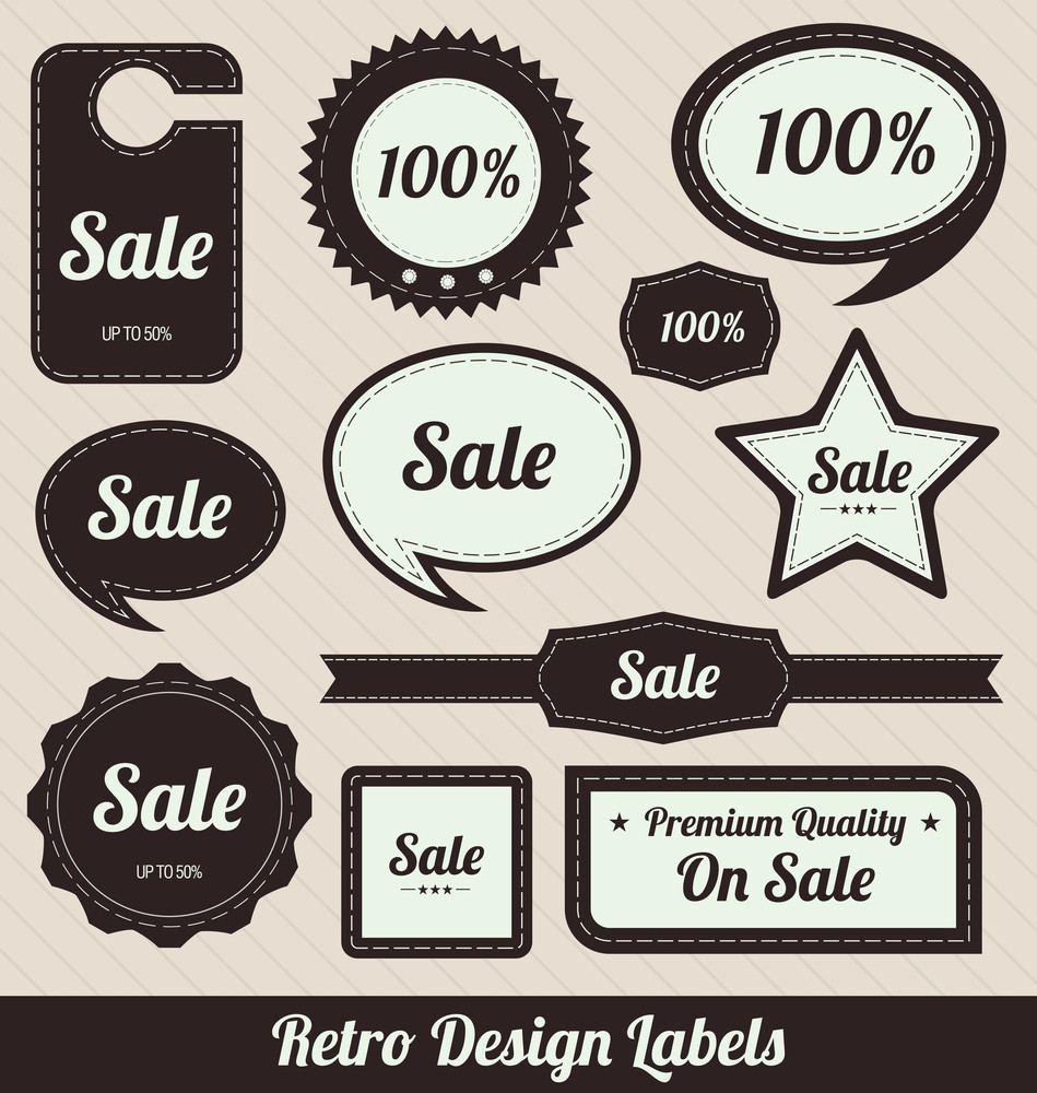 Retro Design Badges