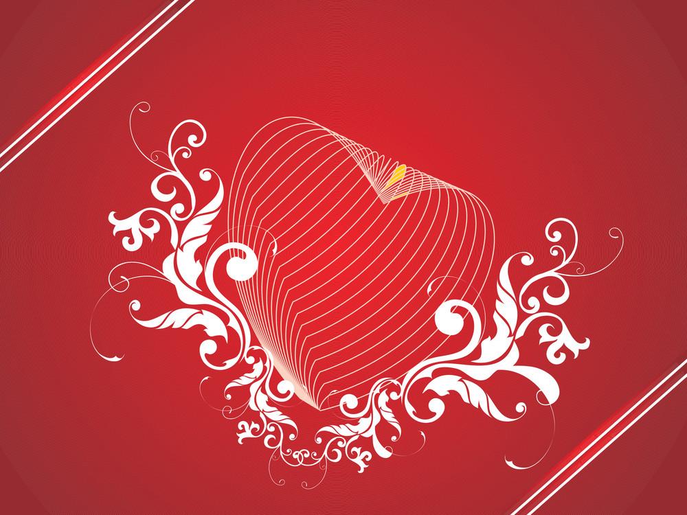 Retro Design Elements Love Concept In Red