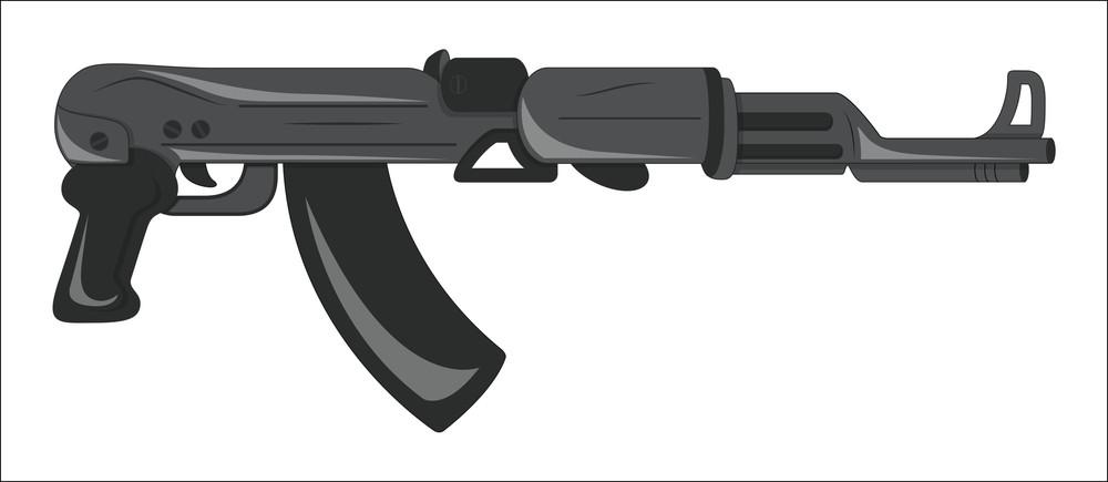 Retro Design Modern Machine Gun
