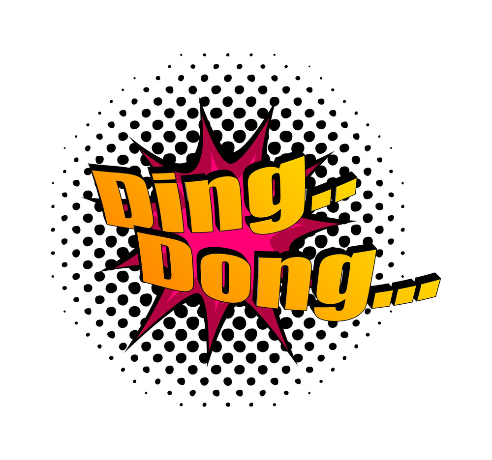 Retro Ding Dong Text Banner