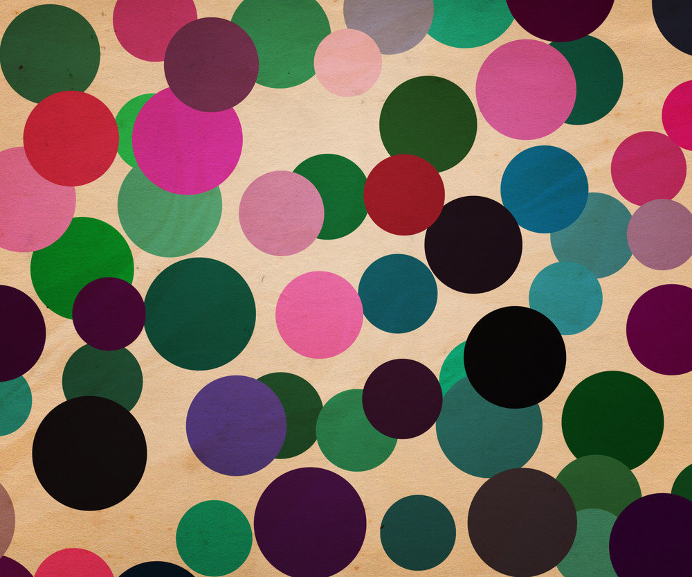 Retro Dots Background Illustration