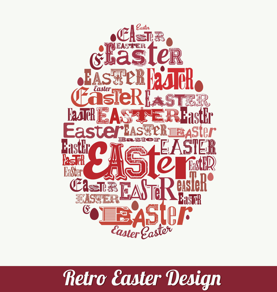 Retro Easter Typographic Design