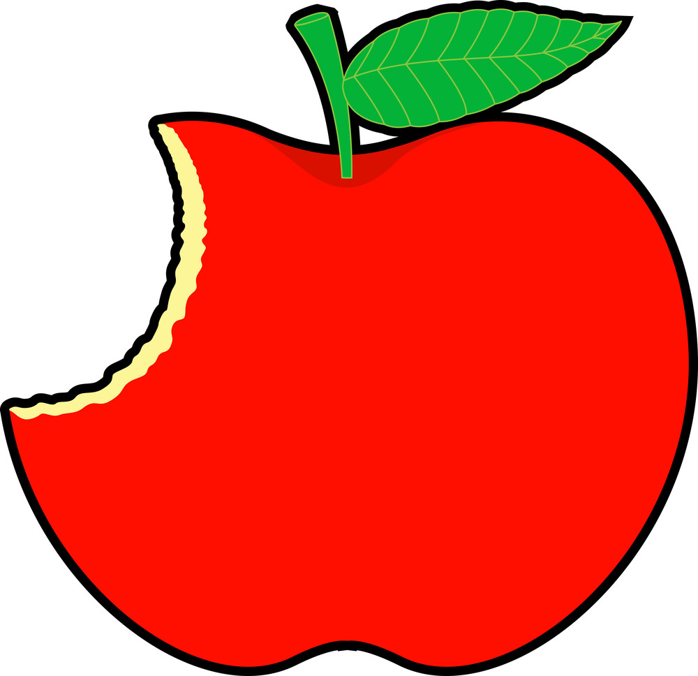 Retro Eaten Apple