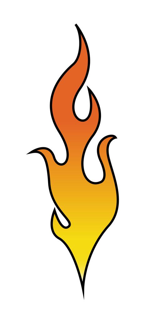 Retro Flame Vector Illustration