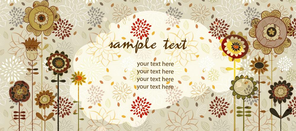 Retro Floral Background Vector Illustration