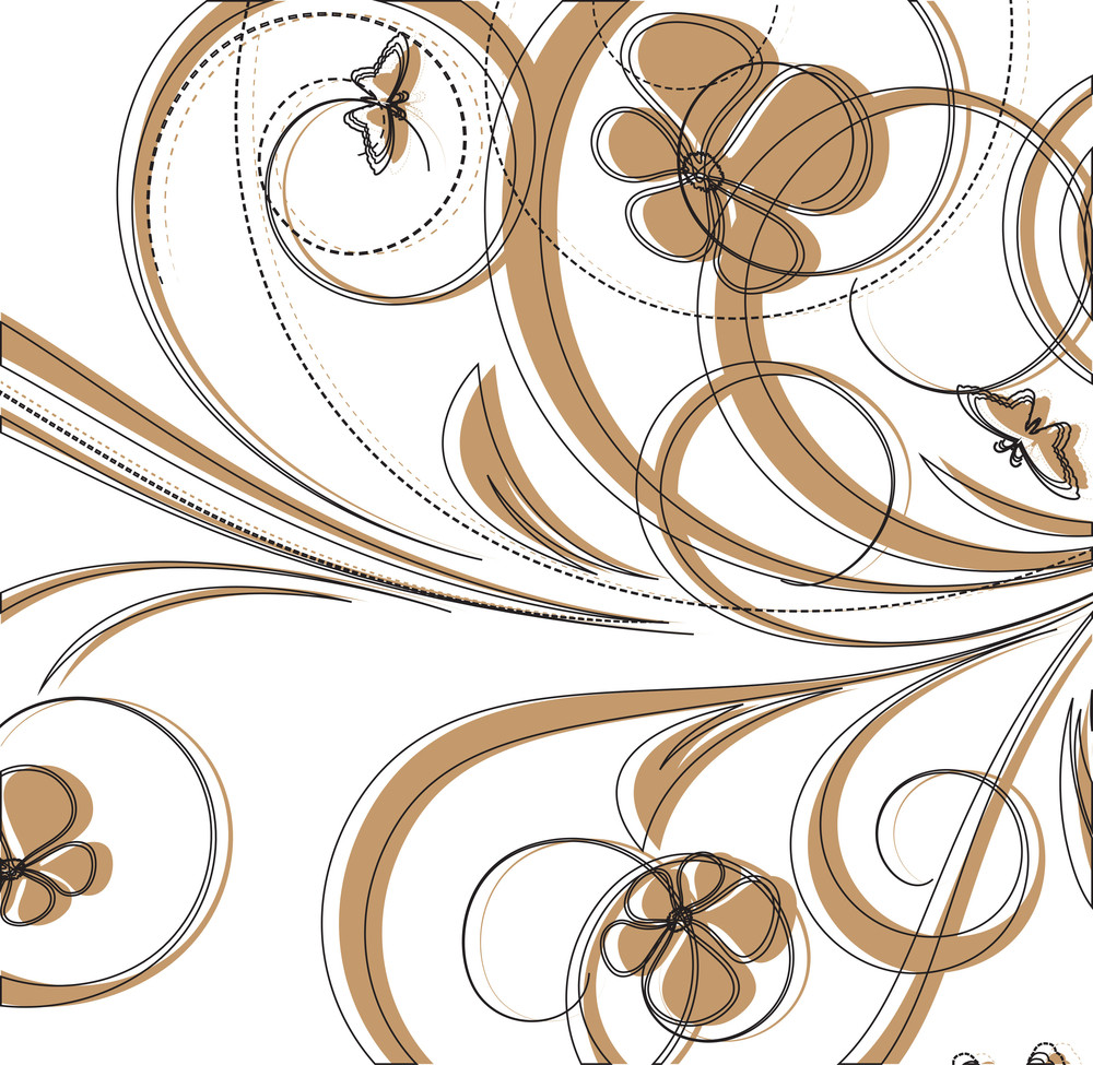 Retro Floral Design Background