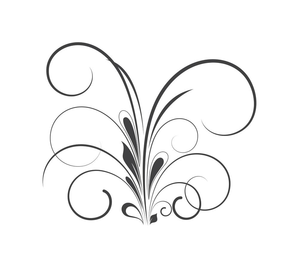 Retro Floral Element Design