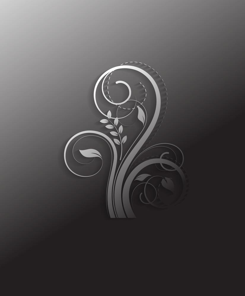 Retro Floral Elements Vector