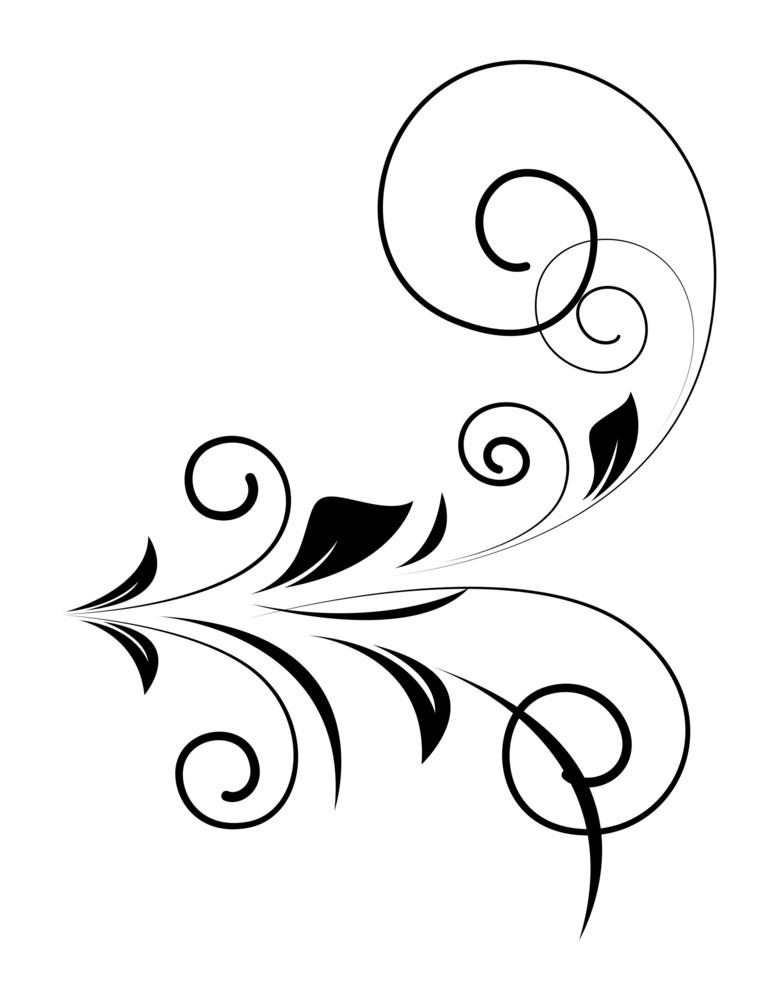 Retro Floral Shape