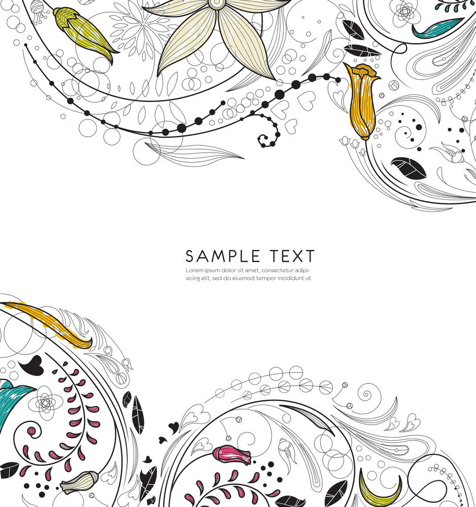 Retro Floral Vector Illustration