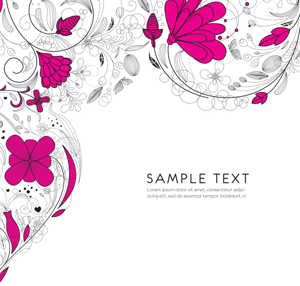 Retro Floral Vector Illustration
