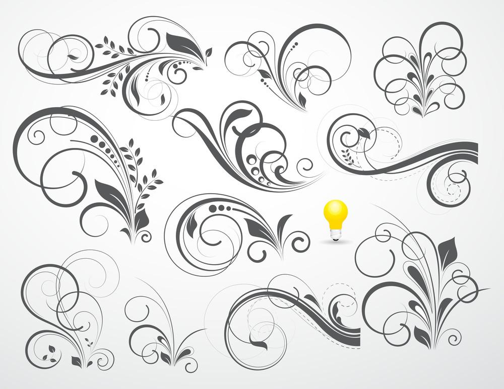 Retro Florals With Bulb Icon