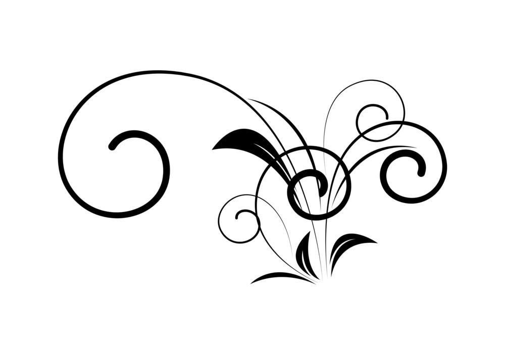 Retro Flourish Design Art