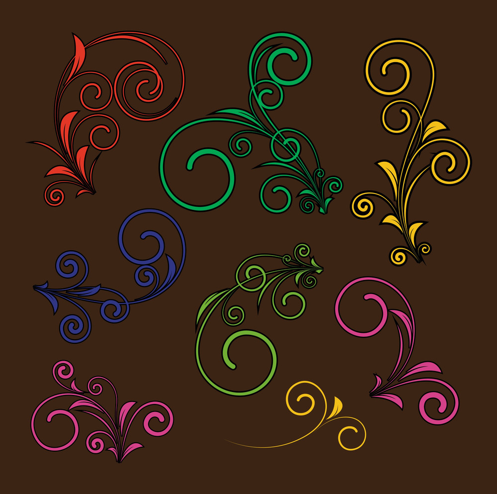 Retro Flourish Design Elements