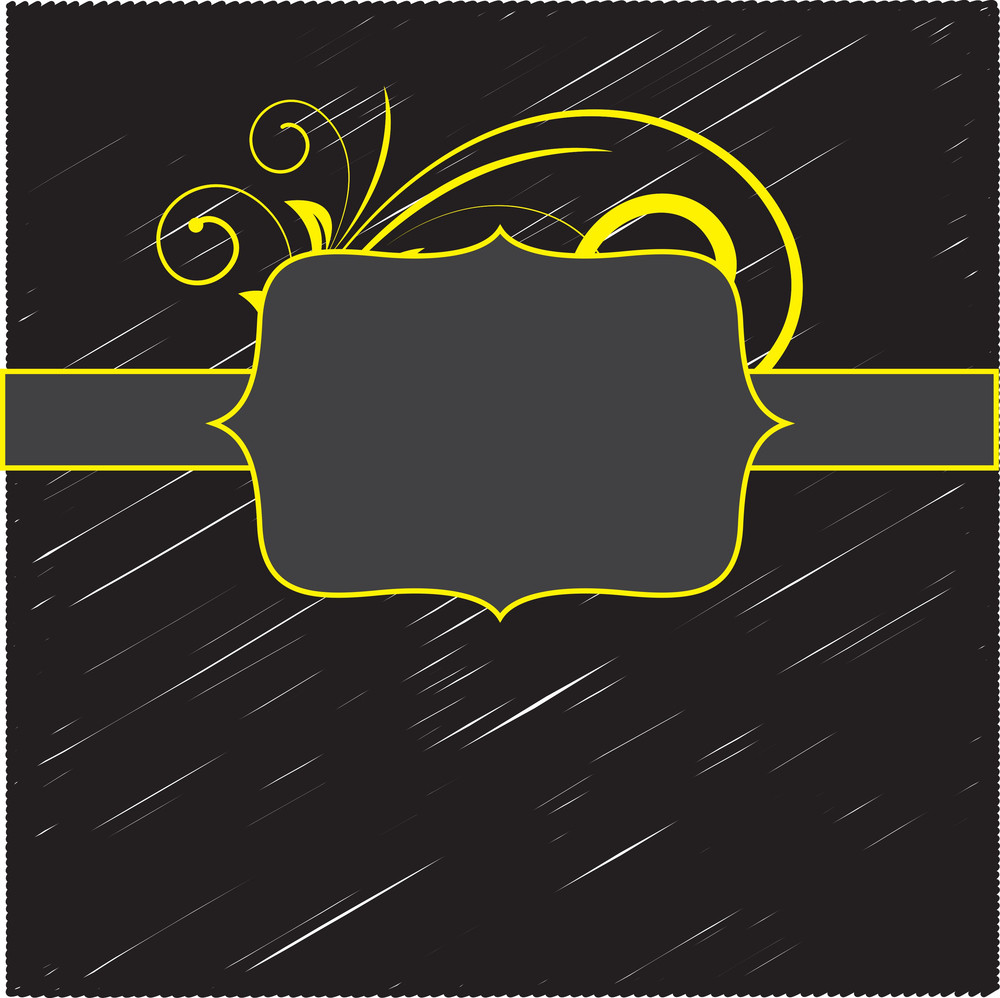 Retro Flourish Label Banner