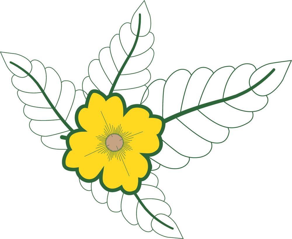 Retro Flower Drawing