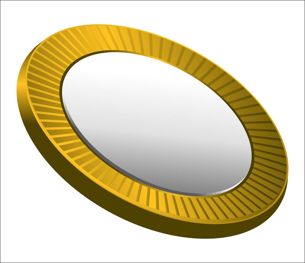 Retro Golden Coin Vector